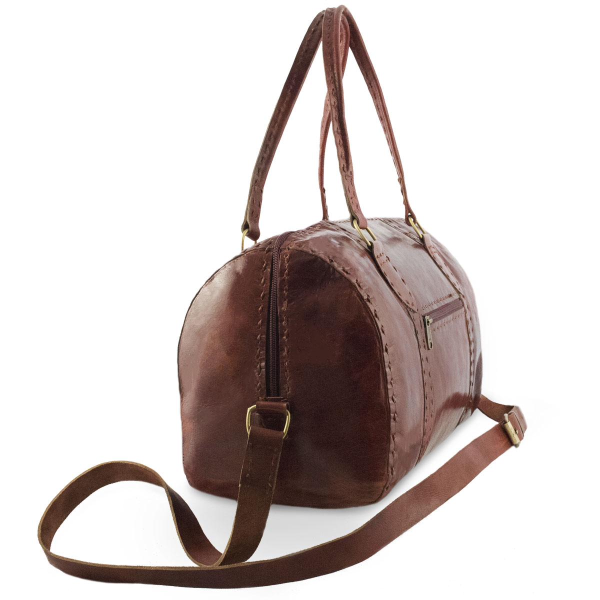 Jina leren barrel bag