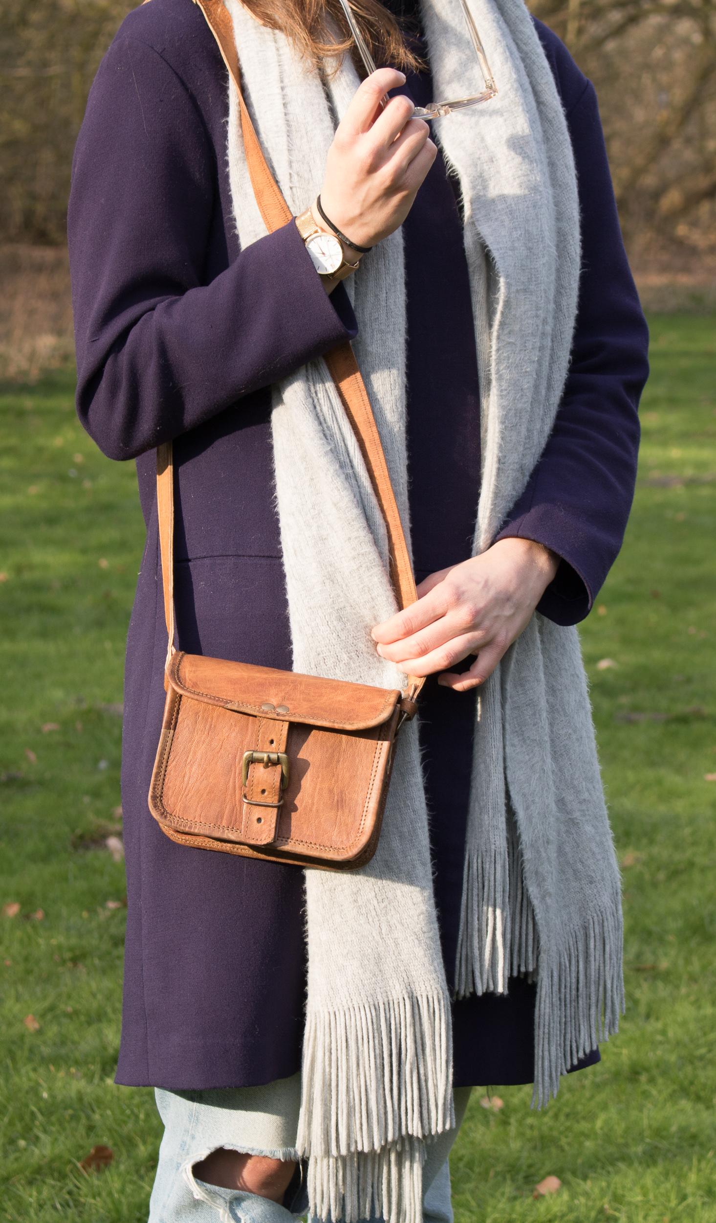 Schoudertasjes : Maya leren schoudertasje fairly made tassen
