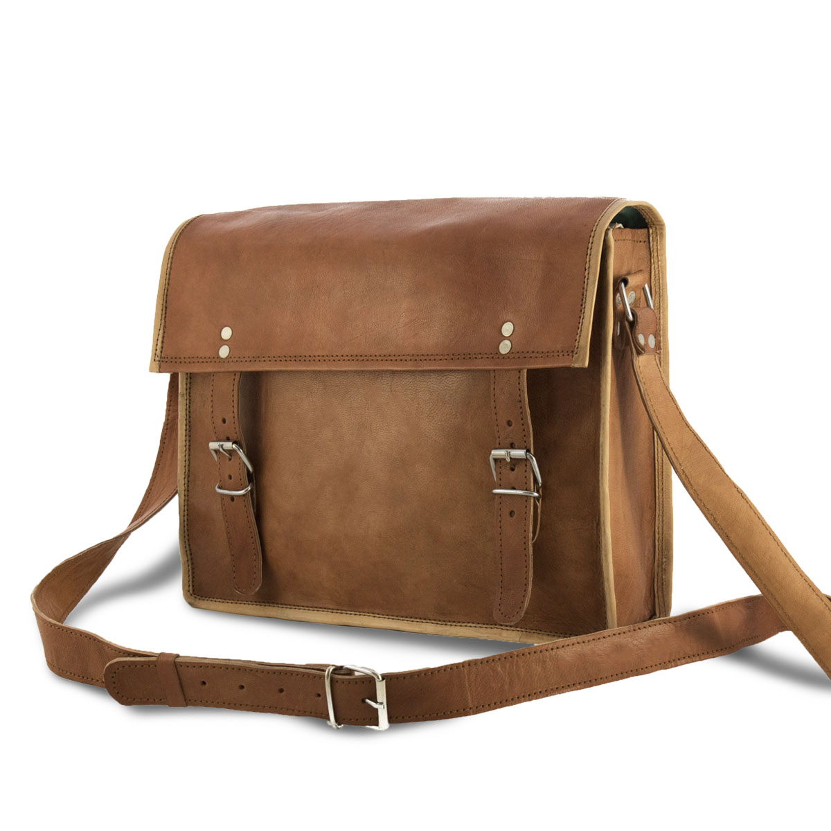 Varish leren laptop tas schuin